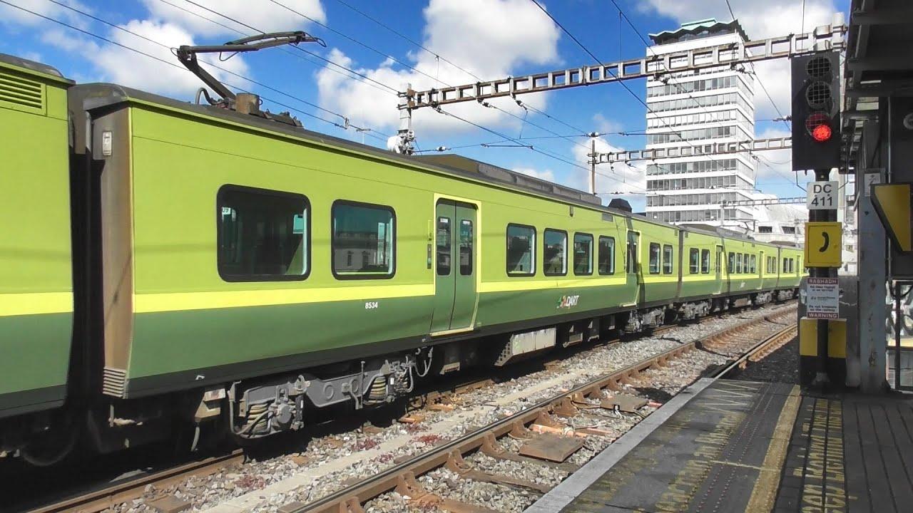 Irish Rail 8520 Class Dart Train 8634 - Tara Street Station, Dublin