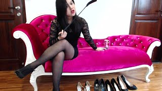 Repeat youtube video Femdom High Heel Worship Collection - Polish Them NOW Minions!