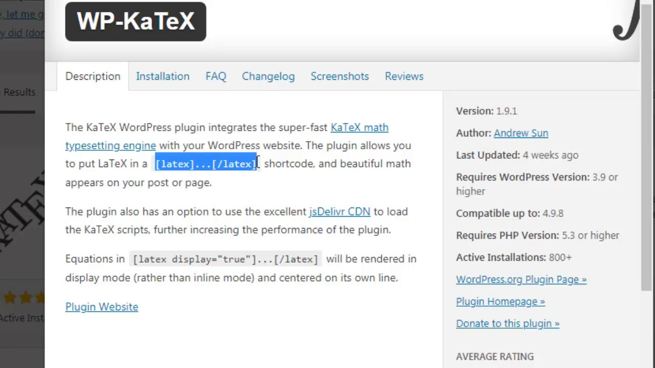 Smartest, fastest & free way to type equation in Wordpress | Best free  Wordpress plugin for LaTeX