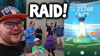 SO MANY PEOPLE CAME TO RAID!!! ▶ POKEMON GO RAIDS ◀ NEW POKEMON GO EPIC RAID BOSS GAMEPLAY