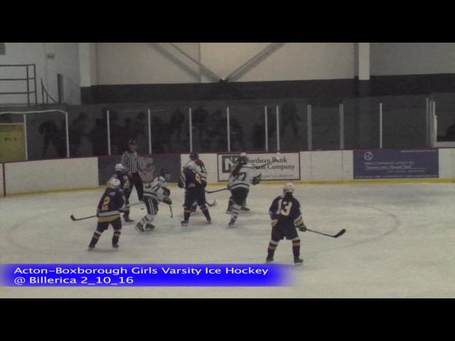 Acton Boxborough Girls Ice Hockey @ Billerica 2/10/16