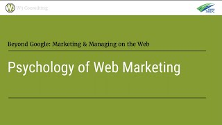 People and the Web | Psychology/Sociology of Web Marketing