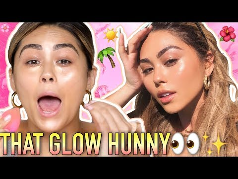 GLOWY 5 MINUTE SUMMER VACATION MAKEUP TUTORIAL | Roxette Arisa thumbnail