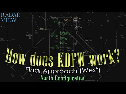 How does Dallas-Fort Worth (Final Approach) work? | RWY36s & 35s