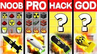 Minecraft Battle: SUPER NUKES MOD CRAFTING CHALLENGE - NOOB vs PRO vs HACKER vs GOD ~ Animation