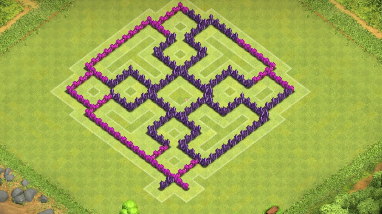 Clash of clans best town hall 7 hybrid base th7 speed build