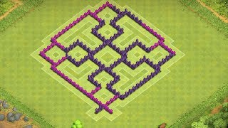 Clash Of Clans - Best Town Hall 7 Hybrid Base ( th7 ) ! Speed Build 2014 !