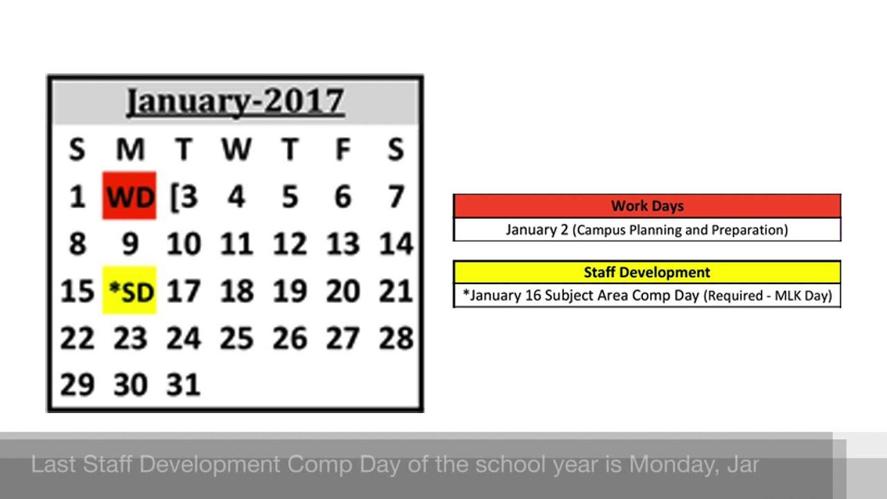 highlights 2016 2017 school year calendar youtube