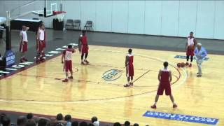 learn roy williams mine field defensive drill basketball 2016 26