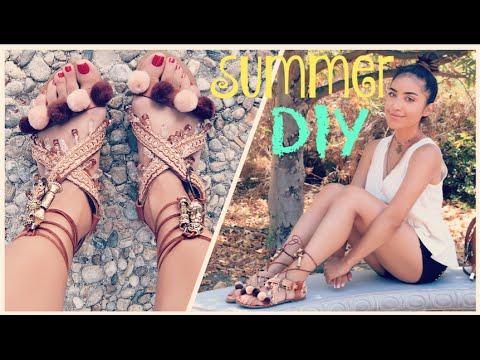 DIY: Pom Pom/Embellished Sandals | Dulce Candy