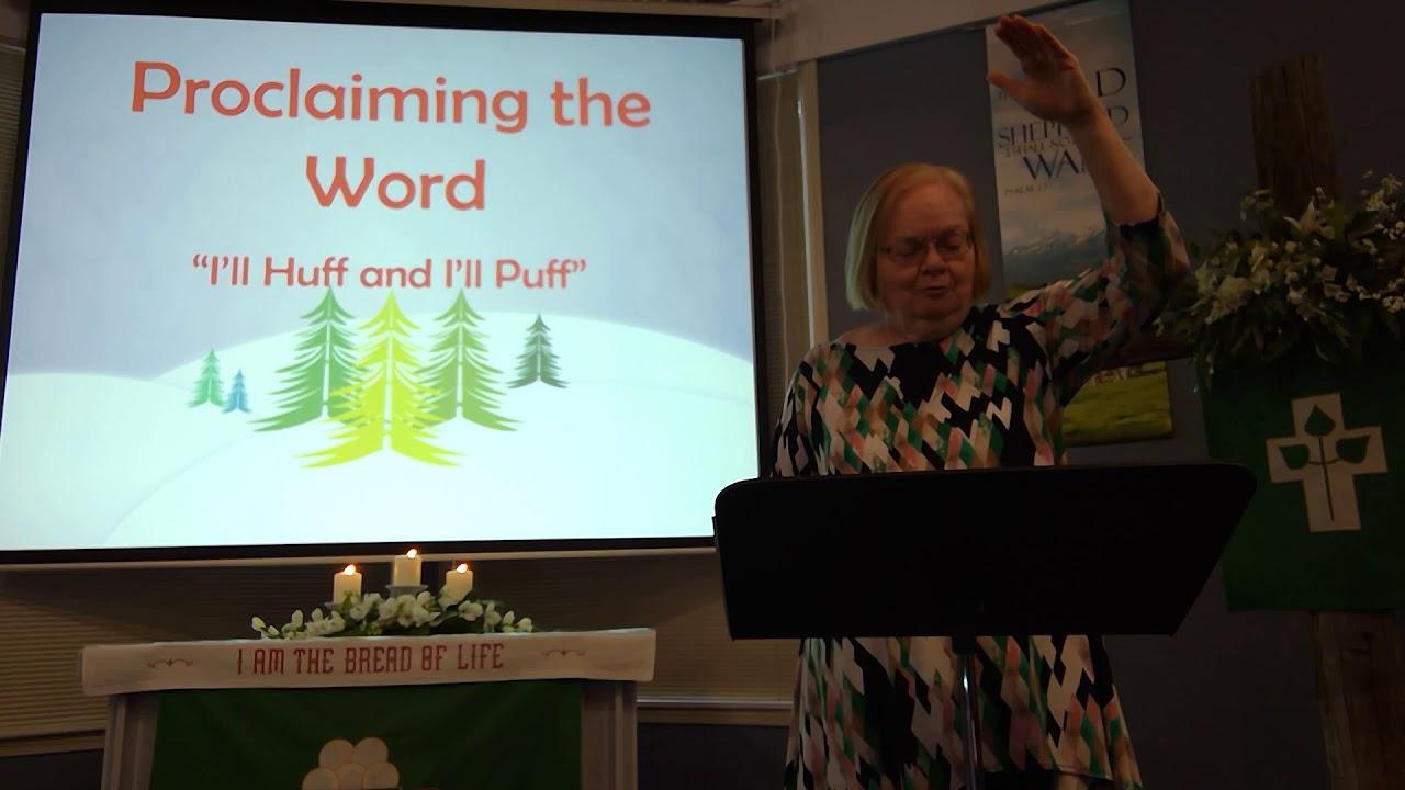 "January 31, 2021 ~ Rev. Julia Price ~ ""I'll Huff and I'll Puff"""