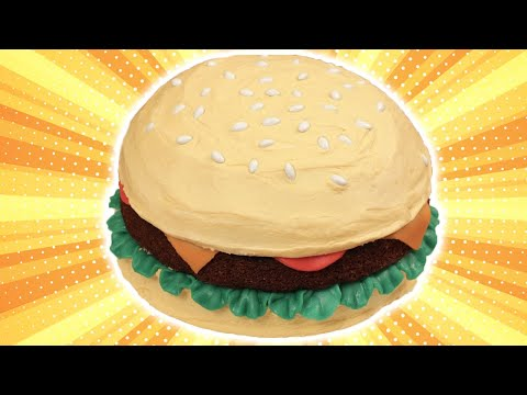 Make HOW TO MAKE A HAMBURGER CAKE - NERDY NUMMIES Pictures