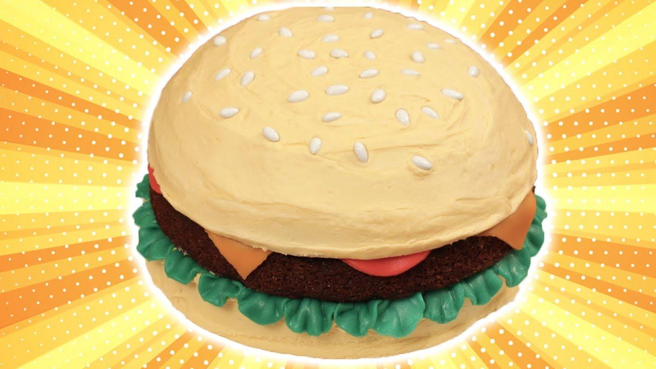 How To Make A Hamburger Cake Nerdy Nummies Youtube