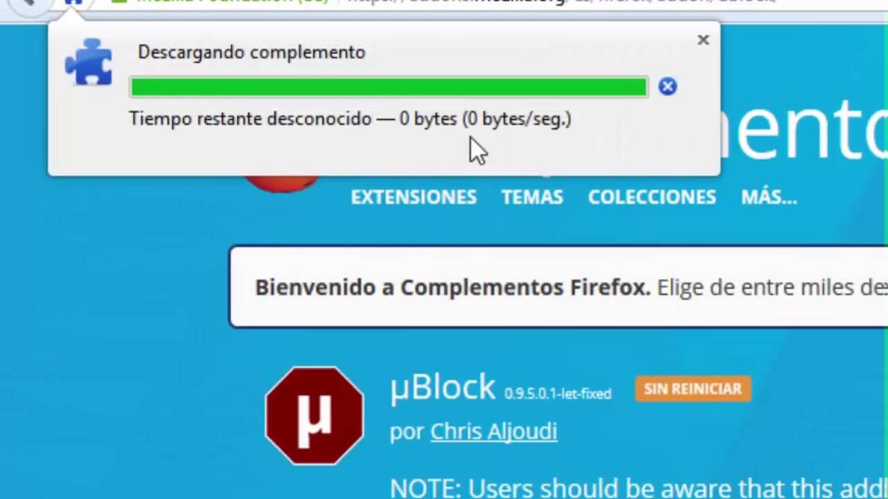 Tutorial : instalar ublock en firefox - YouTube