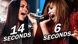 Demi Lovato - Longest Note in Each Year! (Live)
