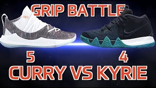 Curry 5 vs Kyrie 4 Grip Battle!