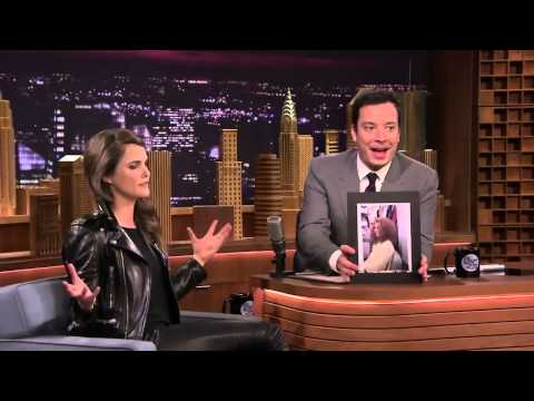 Keri Russell in double leather jacket and pants @ Jimmy's