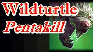 LOL Pro - TSM Wildturtle Twitch Pentakill - NA Challenger SoloQ