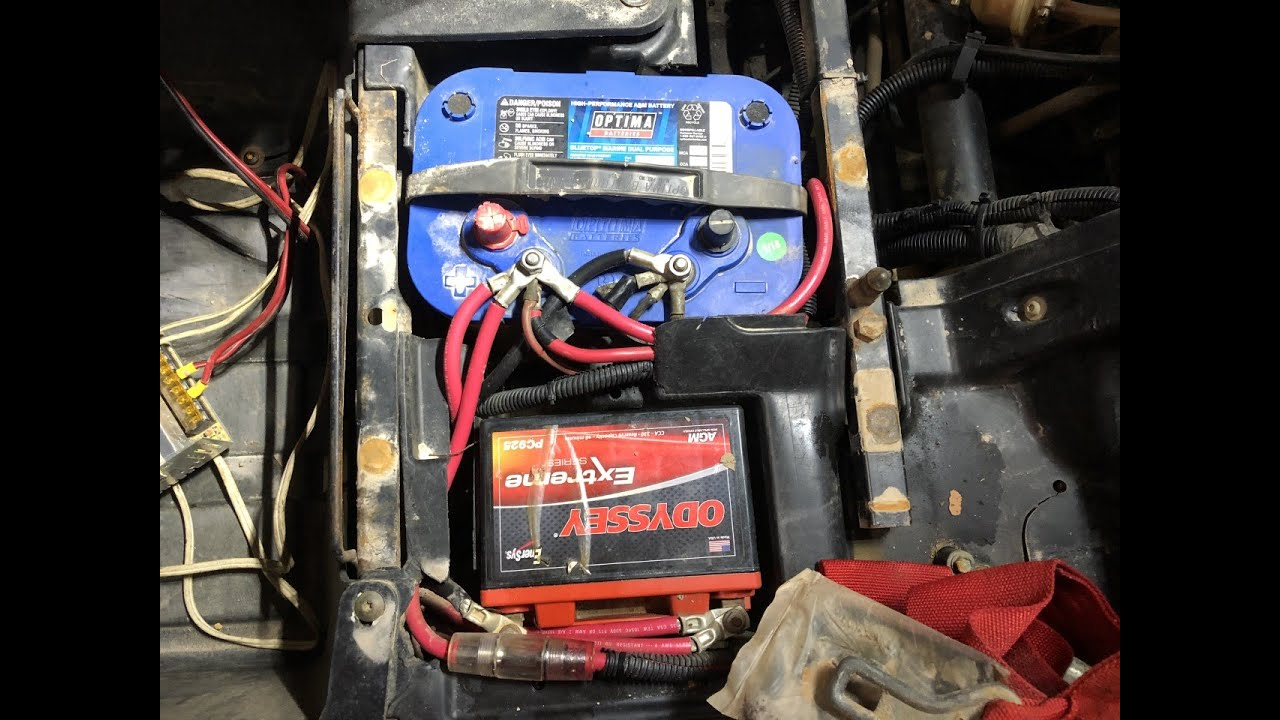small resolution of rzr xp900 dual optima battery install