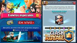 🔴 Desafío de elección del Arquero Mágico - Clash Royale - Multi Torneos, Misiones, Ladder y Más