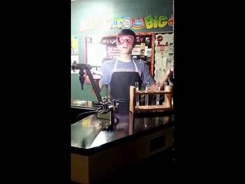 Synthesis Reaction:  Burning Magnesium Ribbon To Form Magnesium Oxide