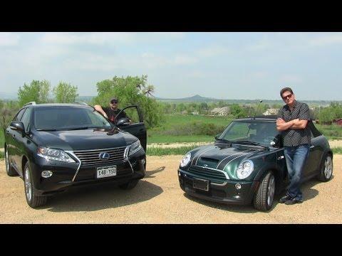 2017 Lexus Hybrid Vs 2008 Mini Cooper S Mpg Mashup Challenge Review