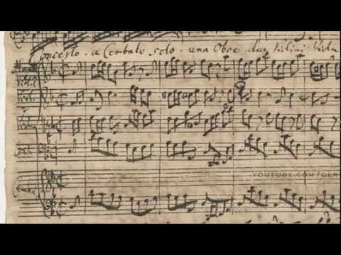BWV 1059 - Harpsichord Concerto in D Minor (Scrolling)