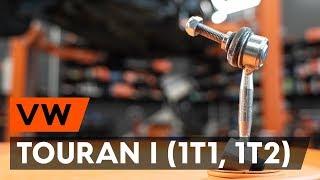VW TOURAN Varikliukas, priekinio stiklo valytuvai keitimas: instrukcija