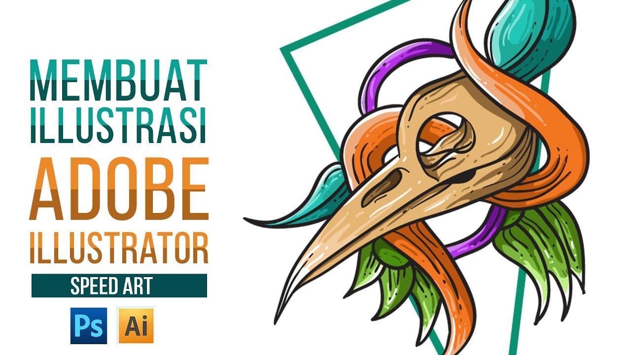 Membuat Gambar Ilustrasi Menggunakan Adobe Illustrator Adobe Photoshop Youtube