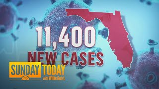 Florida Sets New Single-Day Record Of Over 11,400 Coronavirus Cases | Sunday TODAY