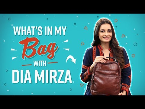 What's in my bag with Dia Mirza | Fashion | Bollywood | Pinkvilla