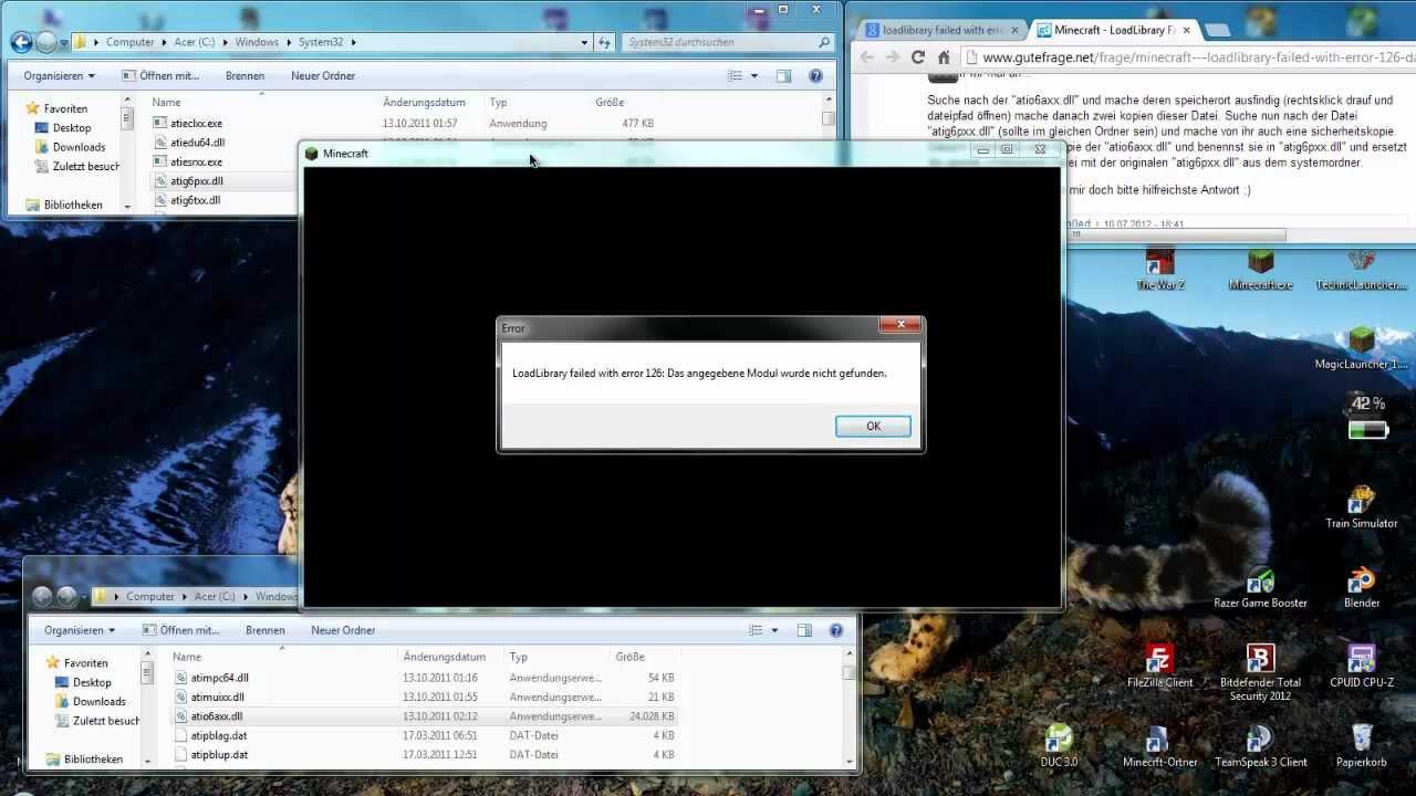 Loadlibrary failed with Error 126: Das angegebene Modul wurde nicht  gefunden! - AMD/ATI [HD] [TuT]