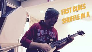 Blues Guitar Lessons and Videos. Blues Shuffle Guitar Solo Improvisation. Fast Blues Shuffle in A.