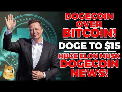 Elon Musk: 'Still On The Dogecoin Train Over Bitcoin!' (This Is HUGE) Dogecoin Elon Musk, Dogecoin