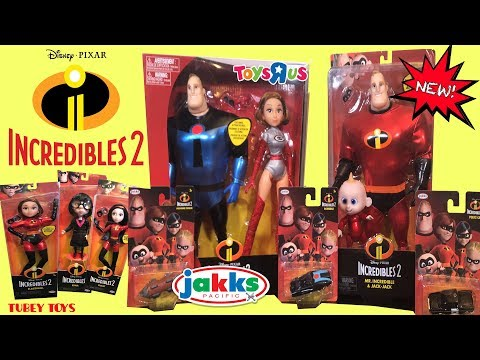 Disney Pixar Incredibles 2 Movie Toys Full Set Huge Haul Posable Dolls Tubey Toys LOTS OF TOYS!