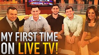 MY FIRST TIME ON LIVE TV!!