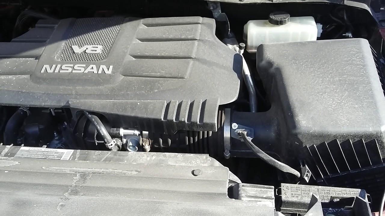 2017 nissan titan 5 6l dohc v8 engine start up and