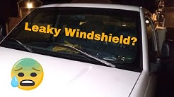 How to quickly and cheaply repair a leaking windshield using Permitex Flowable Silicone!