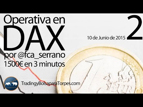 2ª Operativa en DAX (10/06) por Francisca Serrano  – +1500€ en 3 min.  – Trading y Bolsa para Torpes