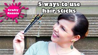 How to use hair sticks (5 ways)