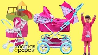mamas papas baby dolls pram baby annabell little girl go for a walk play in the park