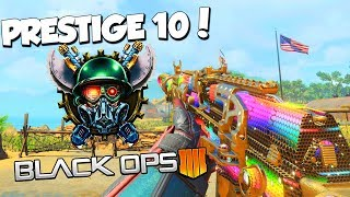REACHING PRESTIGE 10 // BEST CLASS SETUPS & MORE // DARK MATTER CAMO!  CALL OF DUTY BLACK OPS 4