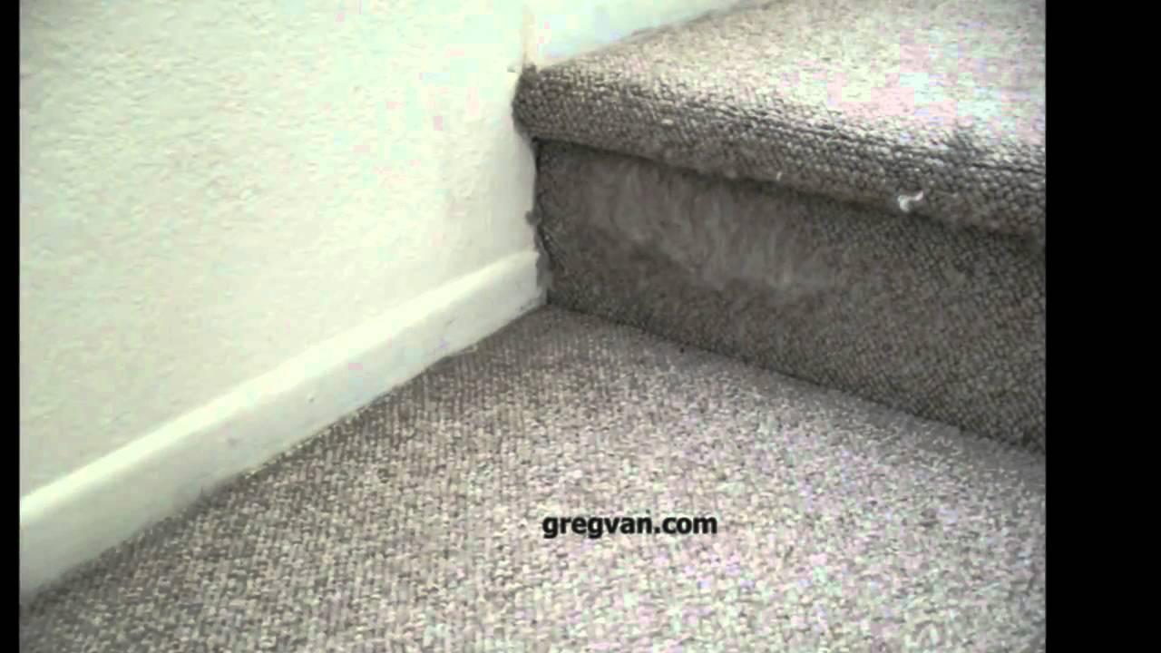 Cat Damages Stair Carpeting - Stairway Maintenance - YouTube