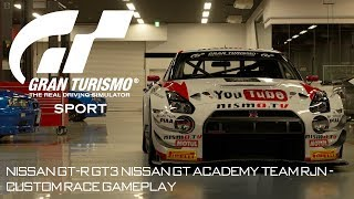 Gran Turismo Sport: Nissan GT-R GT3 Nissan GT Academy Team RJN - Custom Race Gameplay
