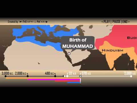 Religion Global History Timeline 1 min 30 sec