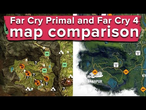 Far Cry Primal And Far Cry 4 Map Comparison How Similar Are They