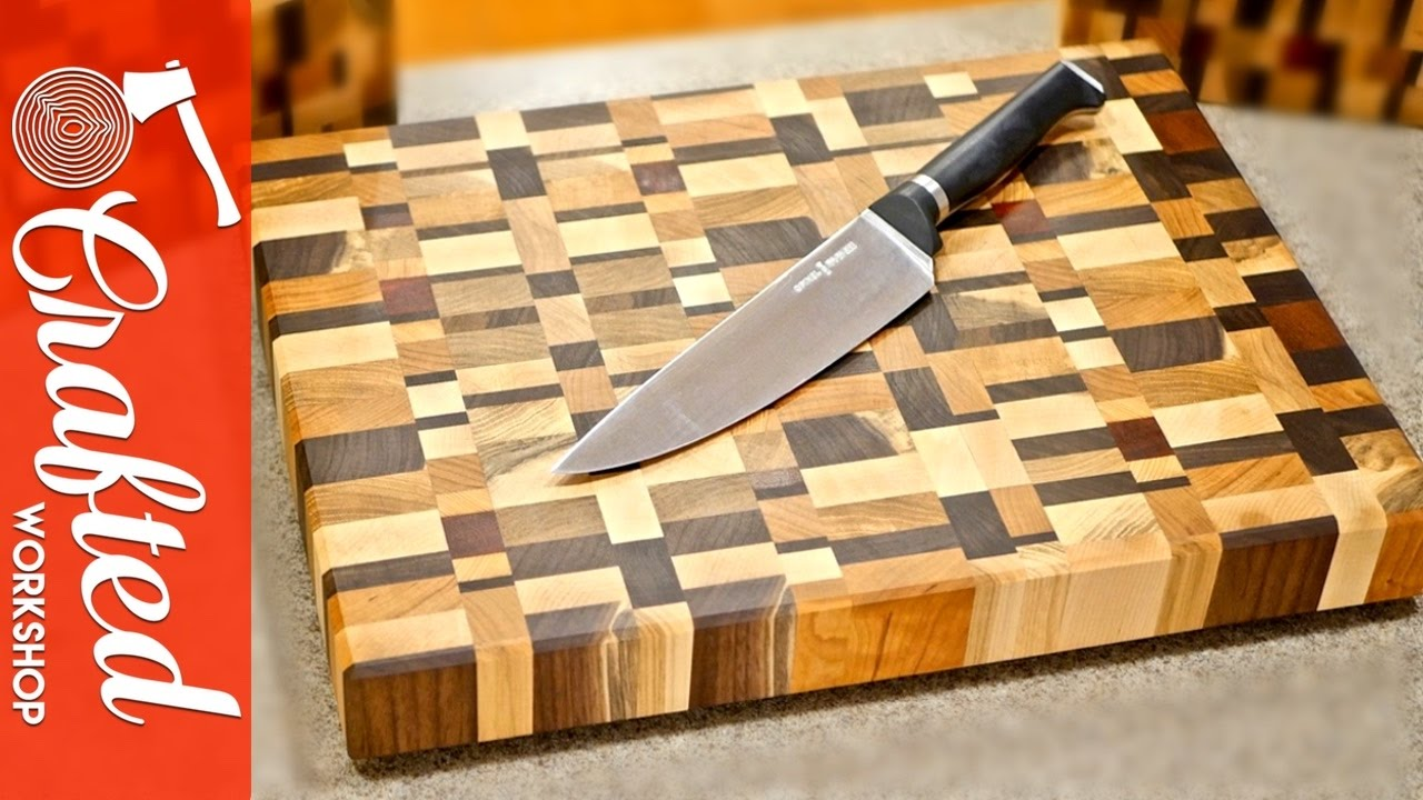 End Grain Cutting Boards from Scrap Wood How To YouTube