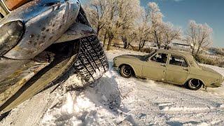 Волга: первый выезд и авария!