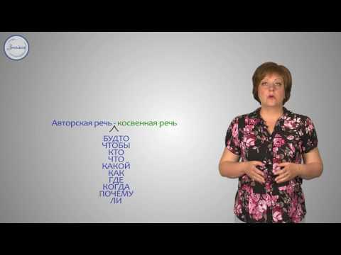 Русский язык 8 класс. Прямая и косвенная речь