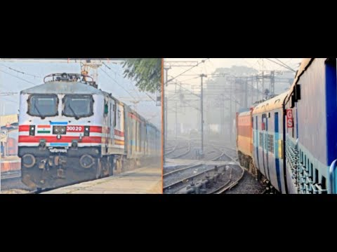 TAMILNADU EXPRESS | DELHI AGRA in DAYLIGHT | GATIMAAN OVERTAKE, RAJDHANI CROSSING  | INDIAN RAILWAYS